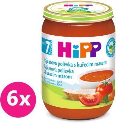 6x HIPP BIO Paradajková polievka s kuracím mäsom 190 g