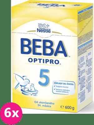 6x NESTLÉ BEBA 5 OPTIPRO (600 g) - kojenecké mléko