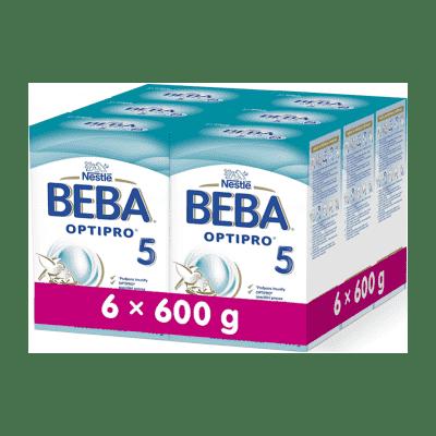 6x BEBA OPTIPRO 5 (600 g) - dojčenské mlieko