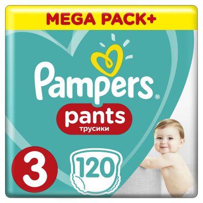 PAMPERS Pants 3, 120 ks (6-11 kg) MEGA Box - plienkové nohavičky