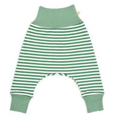 AVANI Whale nohavice 50 - zelená s prúžkami