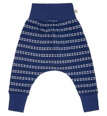 AVANI Safety Pin nohavice 62 - modrá s prúžkami