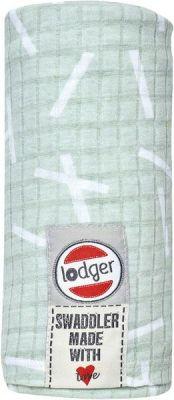 LODGER Bavlněná osuška Swaddler Sprinkle Print – Leaf