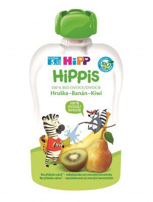 6x HIPP HiPPiS BIO 100% ovoce Hruška-Banán-Kiwi 100 g – ovocný příkrm