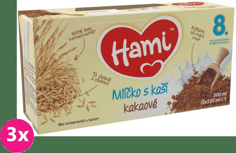 3x HAMI Kakaové mlíčko s kaší (2x250 ml)