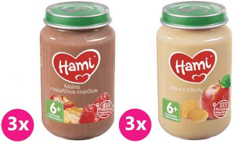 HAMI Menu 1 (6x190g) - ovocný příkrm