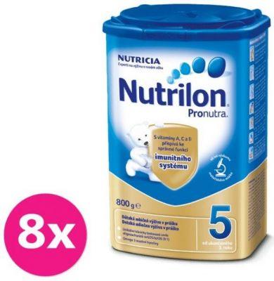 8x NUTRILON 5 ProNutra (800 g) - dojčenské mlieko
