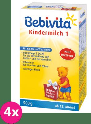 4x BEBIVITA JUNIOR 1+ (500 g) - dojčenské mlieko