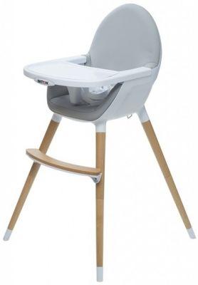 f3799bac48db BRITTON Detská jedálenská stolička Fika – svetlošedá