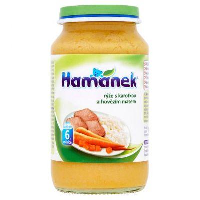 HAMÁNEK Rýže s karotkou a hovězími kousky (230 g) - maso-zeleninový příkrm