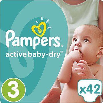 PAMPERS Active Baby 3 MIDI 42ks (5-9 kg) - jednorázové pleny