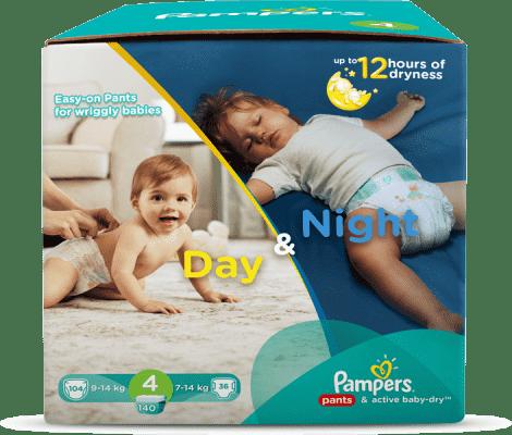 PAMPERS Day&Night Box 4 MAXI 140 ks (9 - 14 kg) - jednorázové pleny