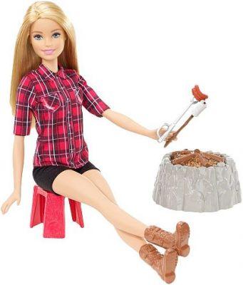 MATTEL BARBIE Barbie na biwaku – czerwona