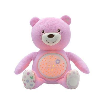 CHICCO Medvedík s projektorom – ružová