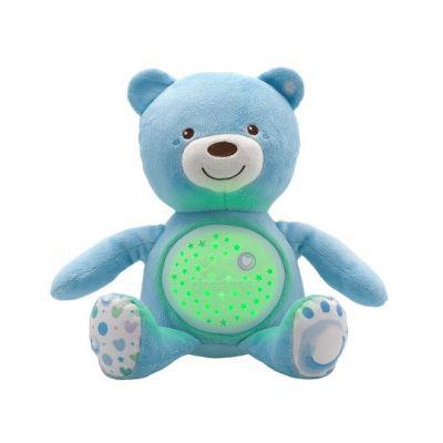 CHICCO Medvídek s projektorem - modrá 0m+