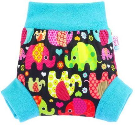 PETIT LULU Pull-up svrchní kalhotky XL - Sloníci tyrkys