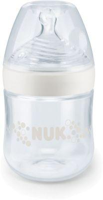 NUK Nature Sense kojenecká láhev, silikon (0-6m), bílá (150 ml)