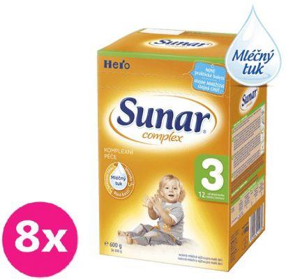 8x SUNAR Complex 3 (600 g) - dojčenské mlieko