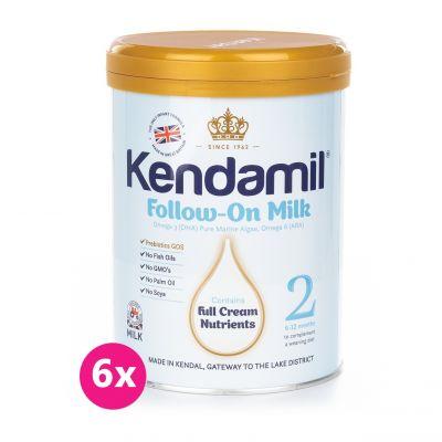6x KENDAMIL Pokračovacie dojčenské mlieko 2 (900 g)