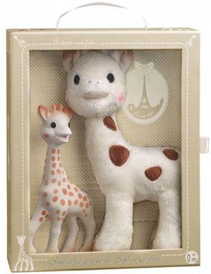 VULLI Set žirafa Sophie+plyšová žirafka