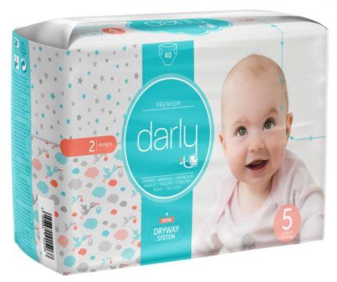 DARLY Premium 5 JUNIOR, 40 ks (11-25 kg) - jednorázové pleny