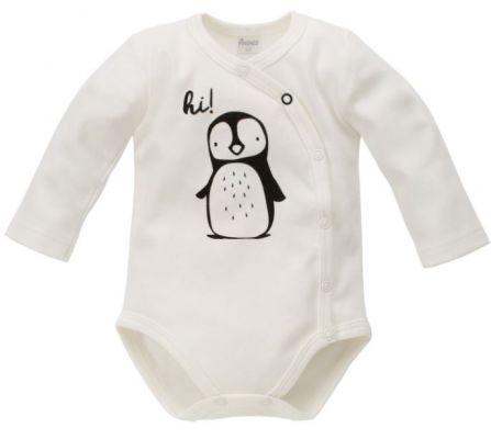 PINOKIO Zavinovací body dlouhý rukáv Happy Day vel. 62 – tučňák