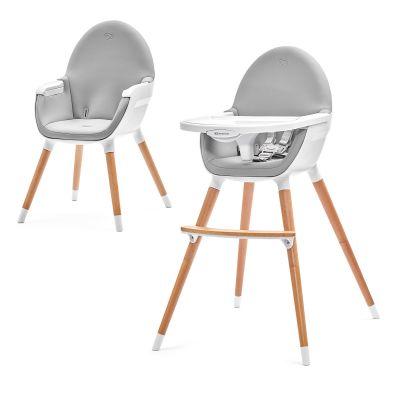 d834b7d94253 KINDERKRAFT Detská jedálenská stolička Fini – Grey