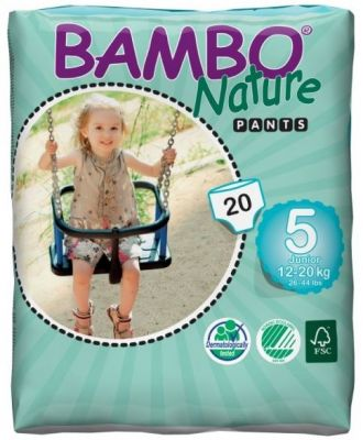 BAMBO NATURE Pants Junior (12-20 kg) 20 ks - plenkové kalhotky
