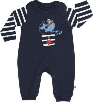 JACKY Set triko+dupačky bez ťapek OCEAN BOY, vel. 74, modrá/pruh