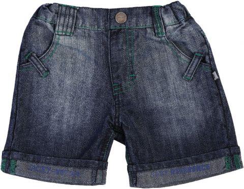 JACKY Krótkie spodenki jeansowe Dogs, rozm. 74 – niebieskie