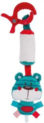 CANPOL BABIES Plyšová hračka se zvonečkem s klipem Forest Friends - medvídek