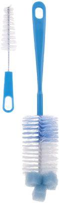 CANPOL BABIES Kartáč na čištění lahví s hubkou - modrá