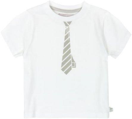 3c283999733315 BOBOLI Elegancka koszulka krawat, rozm. 80 cm – biała/szara, chłopczyk