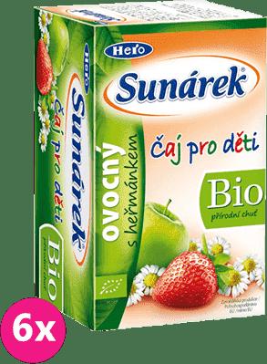 6x SUNÁREK BIO dětský čaj Ovocný s heřmánkem 20x1,5g