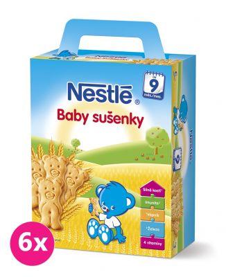 6x NESTLÉ Baby sušienky (180 g)