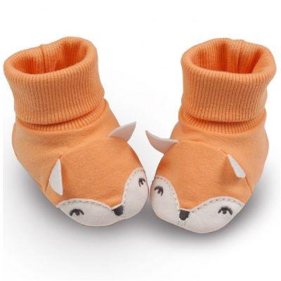 PINOKIO Capáčky/ponožky Smart Fox vel. 62 – oranžové, uni