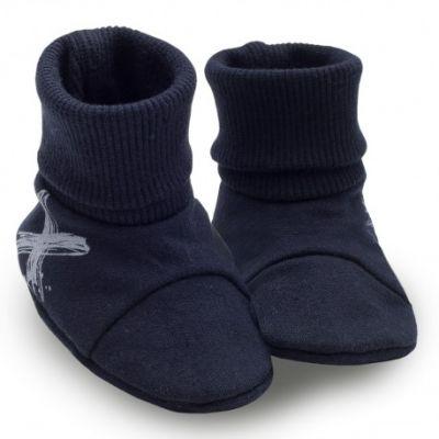 PINOKIO Capáčky/ponožky Xavier vel. 56/62 – tmavě modré, uni