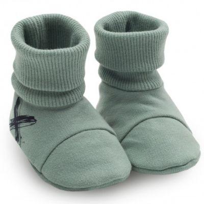 PINOKIO Capáčky/ponožky Xavier vel. 68/74 – zelené, uni