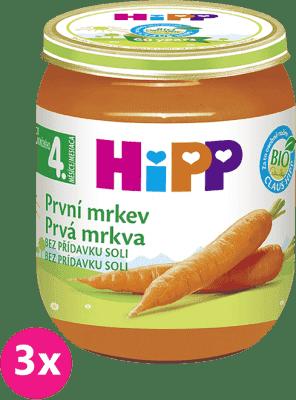 3x HIPP BIO První mrkev (125 g) - zeleninový příkrm