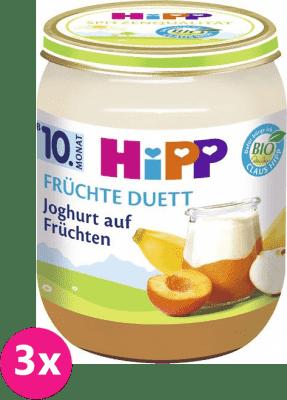 3x HIPP BIO Jogurt s ovocem, 160 g - ovocný přírkm