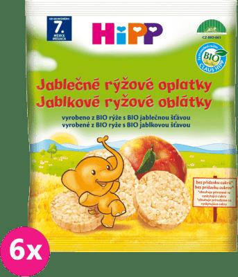 6x HiPP BIO jablečné rýžové oplatky pro děti (30 g)