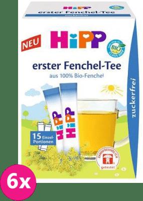 6x HIPP BIO První fenyklový čaj - rozpustný (15 x 0.36g), až 30 porcí