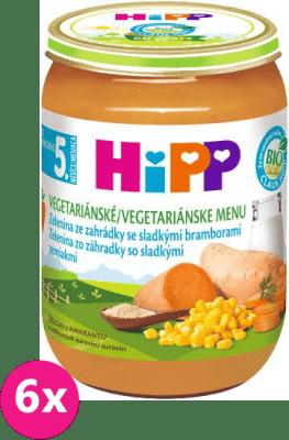 6x HIPP BIO Jemná záhradná zelenina so sladkými zemiakmi 190 g