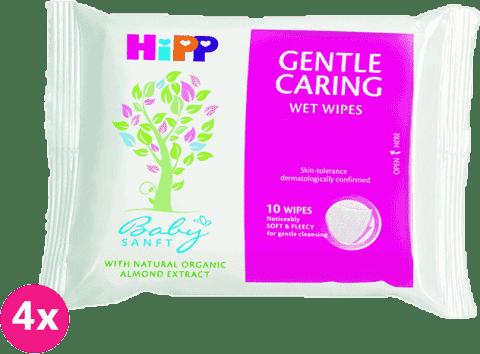 4x HIPP Babysanft (10 ks) - vlhčené ubrousky