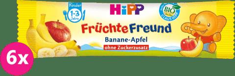 6x HIPP BIO Tyčinka Banán-Jablko, (25 g)