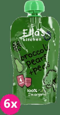 6x ELLA´S Kitchen Brokolice, hruška ahrášek 120g