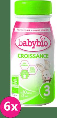 6x BABYBIO Mléko 3 Croissance tekuté 250 ml
