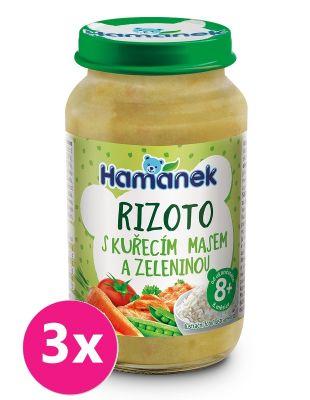 3x HAMÁNEK Rizoto s kuřecím masem a zeleninou 230 g