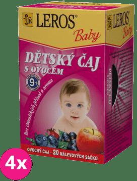 4x LEROS BABY dětský čaj s ovocem 20x2g