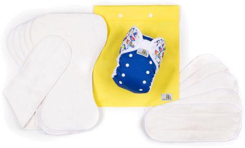 BAMBOOLIK AI2 denní testovací sada kojenec Modrá + Bagry